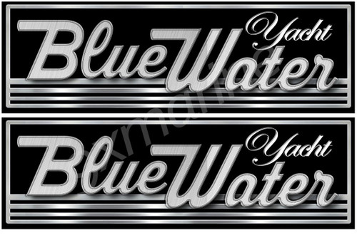 Two Blue Water Boat Classic Stickers for Restoration Project
