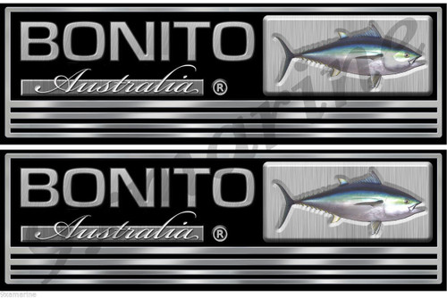"Bonito Boat Custom Sticker 10 "" long Two Sticker Set"