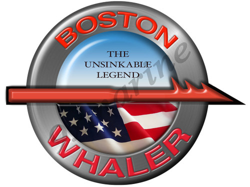 "Boston Whaler Remastered Sticker 7"" Diameter"