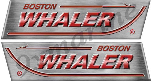 "Boston Whaler Remastered Sticker Set. Left/Right 15"" X 4"" each - laminated"