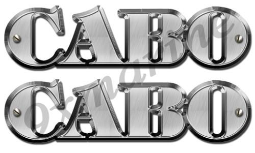 Two Cabo Bridge Replica Vinyl Stickers (not OEM)