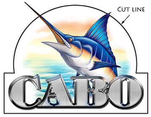 """Single Cabo Designer Sticker 10""""X10"""" Die-cut"""
