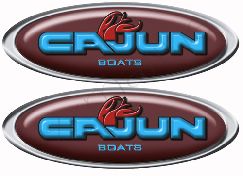Two Cajun Boat Oval Stickers for Restoration Project