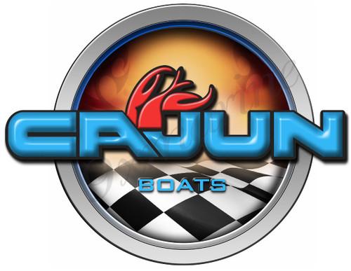 Cajun Racing Boat Round Sticker - Name Plate