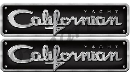Two Californian Sticker Chrome Style Replica In Vinyl
