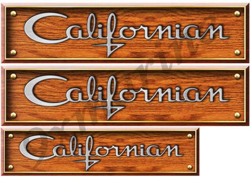 Two Californian Sticker Wood Style Replica In Vinyl