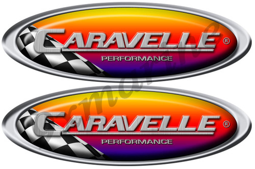 "Two Caravelle Racing Stickers 10"" Long"