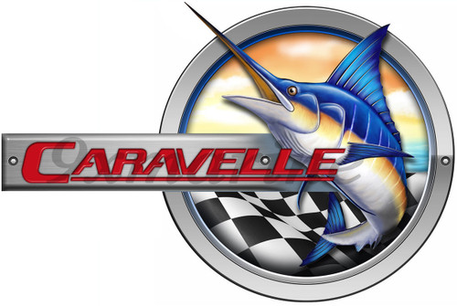 "One Caravelle Marlin Sticker 10"" Long"