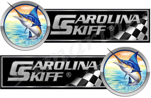 "Two Carolina Skiff 10"" Long Stickers. Remastered"