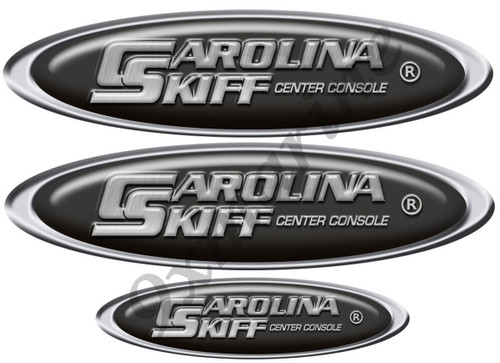 Carolina Skiff Oval Sticker Remastered for boat restoration project