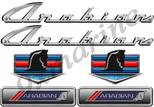 Century Vintage Arabian Sticker Set