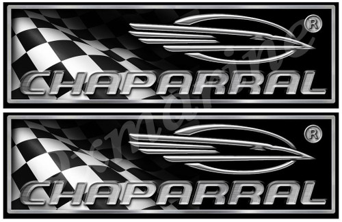Chaparral 2 Boat Stickers. Remastered stickers for boat restoration project