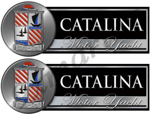 Two Chris Craft Catalina Custom Stickers - Remastered