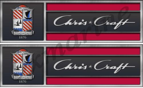 Chris Craft Hull Tags Replica in Vinyl