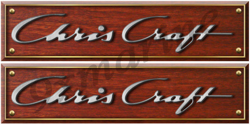 Chris Craft Custom Woodgrain Stickers - 10 inch long set. Remastered
