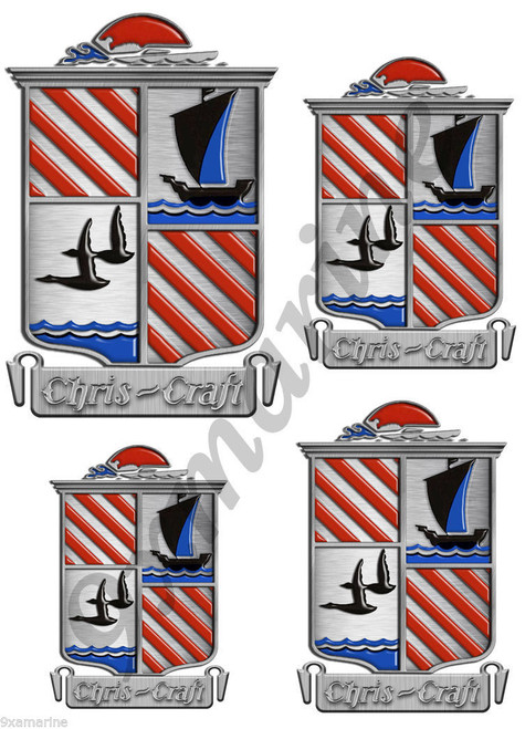 Chris Craft Crest Stickers for Restoration Project