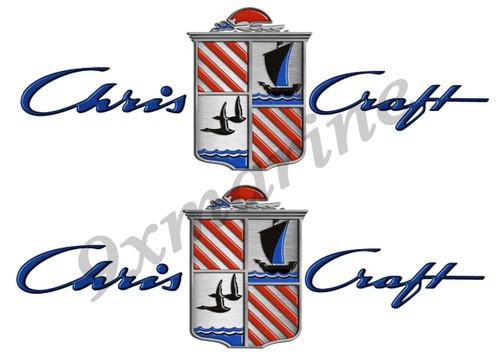 Chris Craft Custom Stickers - 10 inch long set. Remastered