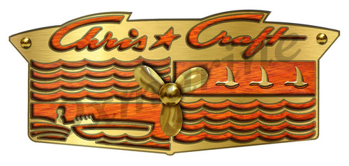 "Chris Craft Custom Crest Sticker - 10""X4.5"""