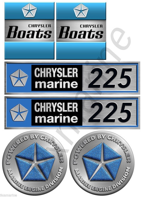 Chrysler Engine Decals Set. Number of your choice. Custom made to order