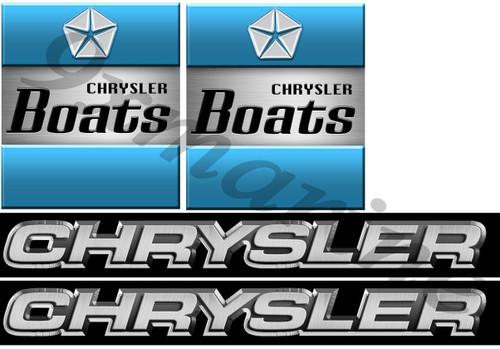 Chrysler Vintage Boat Remastered Stickers