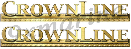 """Two 16"""" CrownLine Boat Remastered Stickers"""