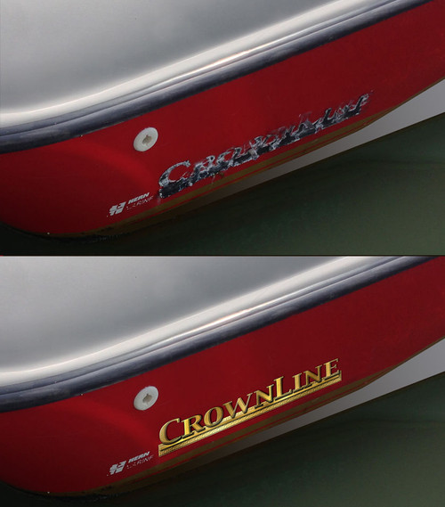 "Two 16"" CrownLine Boat Remastered Stickers"