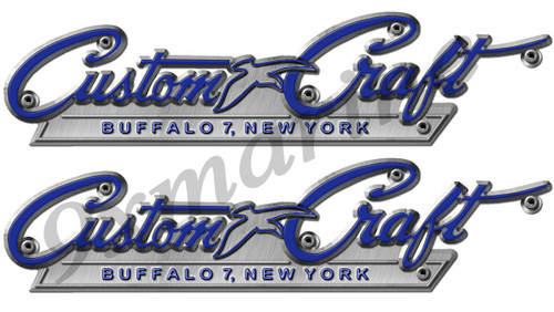 """Two Custom Craft 10 inch long Stickers Remastered """"Uncut"""""""