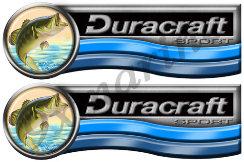 Two Duracraft Boat Stickers