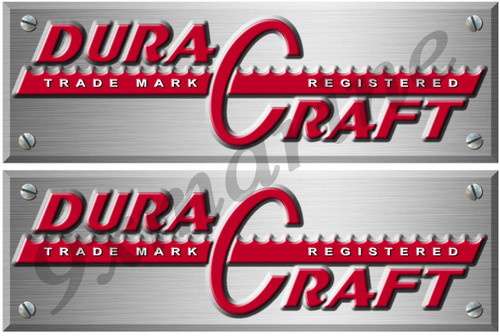 Two Dura Craft Boat Remastered Sticker