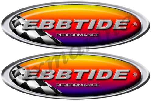 Ebbtide Boat Oval Sticker Racing Set