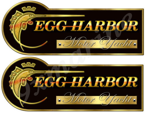 Two Egg Harbor Designer Stickers