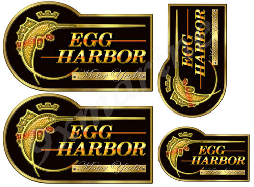 Four Short Egg Harbor Designer Stickers