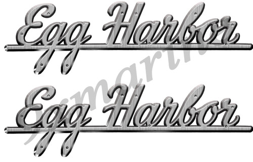 "Two Egg Harbor Vinyl Stickers 10""X2"""