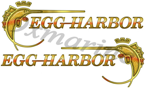"Two Egg Harbor 10"" Stickers"