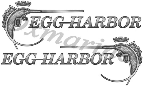 "Two Egg Harbor 15""X5.5"" Die-Cut Stickers"
