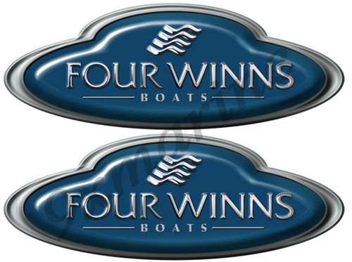 Two Four Winns Oval Stickers - Generic