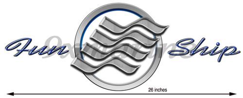 """26"""" Four Winns Boat Sticker Set"""