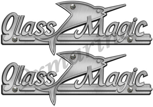 Two Glass Magic Boat Remastered Stickers for boat restoration project