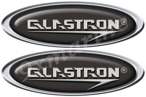 Glastron 2 Oval Boat Stickers - Classic Style. Remastered