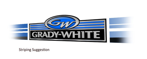 Grady White Classic Stickers - 10 inch long set. Remastered