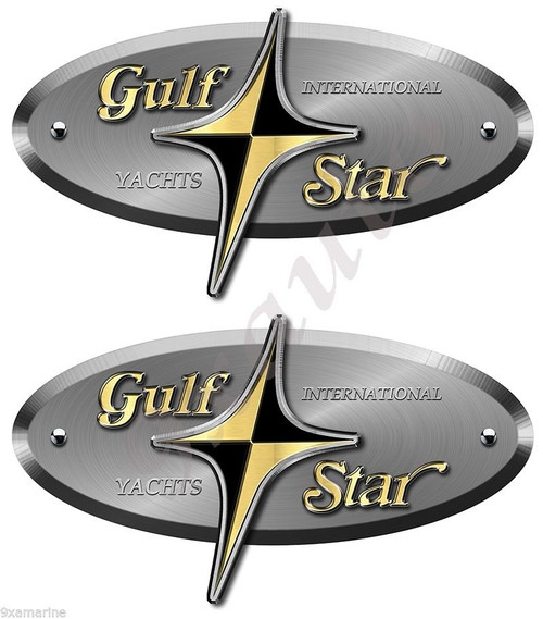 """Two Gulf Star Stickers 8""""X4"""" each (not OEM)"""