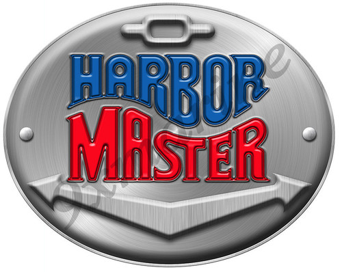 "Harbor Master Oval Sticker. 7""X8"""