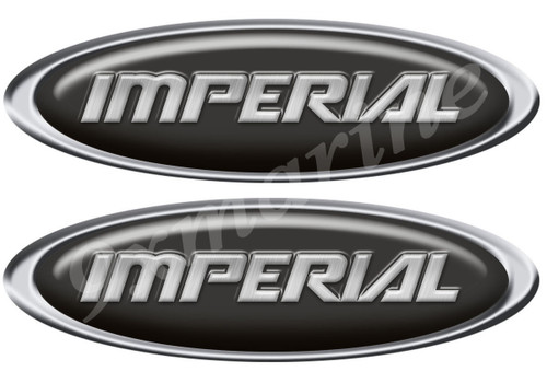 Two Imperial Boat Classic Type Oval Stickers 10X3 inches long