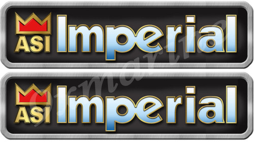 Two Imperial Boat Vintage Type Stickers 10X2.5 inches long