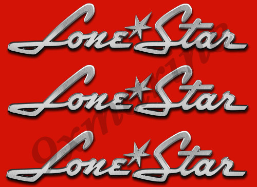 "3 Lone Star boat stickers 10""x2"" each"