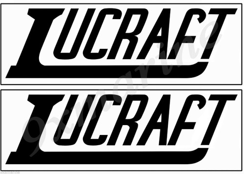 Two Lucraft original style stickers