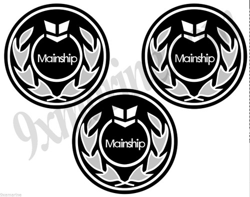 Three Mainship OEM Stickers - Replica of the original (not OEM)