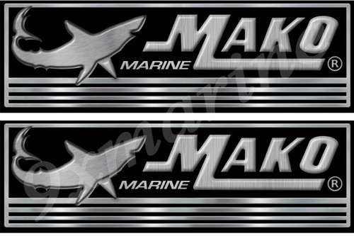 Mako Boat Stickers. Remastered stickers for boat restoration project