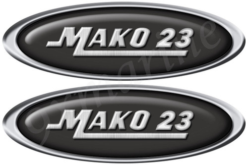 Mako Boat Oval Stickers with Number of your Choice