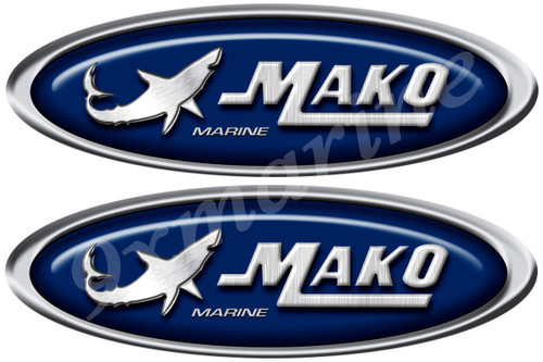 Mako Boat oval stickers. Remastered stickers for boat restoration project